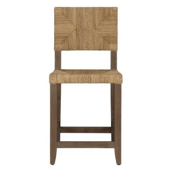 Fiji 24-Inch Bar Stool - For a tropical-inspired look, this chair is perfect. It also looks extra comfortable with the high back.