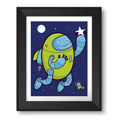 "Warnick Art - Blast Off - 3, 2, 1, blast off! These lil guys are 15""x19"", 7 color screen prints and feature glow in the dark ink. Thats correct, they glow in the dark! Ready to land on your wall, these are printed on Coventry Rag 290 gsm 100% cotton and are signed and numbered with a limited edition of 50. Prints are unframed. Thanks for looking!"