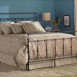 Fashion Bed Group - Winslow Full-size Bed - Give your bedroom an elegant makeover with the Winslow full-size bed. A muted pewter finish and curling silhouette give this metal full-size bed a luxurious look. An included steel bed frame makes this bed as sturdy as it is luxurious.