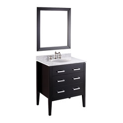 Bosconi - 31'' Bosconi SB-260 Vanity Set - Vanity of vanities. The question is this: When something looks this good, why not be proud of it? This particular vanity combines elegance and simplicity to accommodate all your bath paraphernalia beautifully.