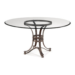 Bassett Mirror - Bassett Mirror Tempe Round Dining Table D2660-700-095EC - Bassett Mirror Tempe Round Dining Table D2660-700-095EC