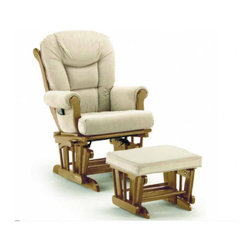 Sleigh Style Matching Glider and Ottoman Set - If you're looking for an ultra-comfortable choice for rocking your baby, consider this duo. Put your feet up while you care for your baby. Comfort is paramount here, and it comes with great style.
