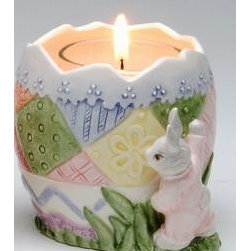 ATD - 3 Inch Quilt Pattern Bunny Design Glass Votive Candle Holder - This gorgeous 3 Inch Quilt Pattern Bunny Design Glass Votive Candle Holder has the finest details and highest quality you will find anywhere! 3 Inch Quilt Pattern Bunny Design Glass Votive Candle Holder is truly remarkable.
