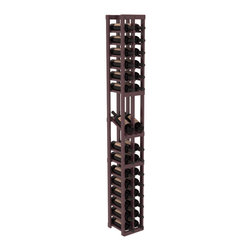 Wine Racks America - 2 Column Display Row Wine Cellar Kit in Pine, Burgundy + Satin Finish - Make your best vintage the focal point of your wine cellar. High-reveal display rows create a more intimate setting for avid collectors wine cellars. Our wine cellar kits are constructed to industry-leading standards. You'll be satisfied. We guarantee it.