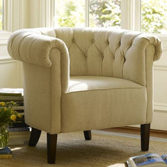 modern armchairs by Pottery Barn