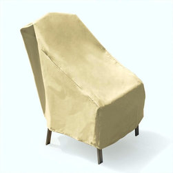 None - Mr. BBQ Premium Patio Chair Cover - This Mr. BBQ Premium Patio Chair Cover features eco-friendly construction without using any PVC. This weather resistant chair cover protects your furniture in the harshest of conditions.