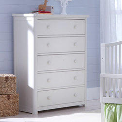 Baby Appleseed - Baby Appleseed Stratford 5 Drawer Chest - 244-122-1009 - Shop for Dressers from Hayneedle.com! With its sophisticated and modern design the Stratford 5 Drawer Chest is a beautiful addition to any nursery. Solidly built from American poplar wood this beautiful chest is available in your choice of gorgeous finishes. Made with five deep spacious drawers for plenty of storage space each drawer is crafted with English dovetail joints smooth ball bearing guides with full extension metal glides and special bracing on the bottom for added stability. Elegant wooden knobs and clean lines make this chest one that will grow with your child throughout the years. Built with sustainability in mind the beautiful Stratford 5 Drawer Chest is built from sustainable American poplar and finished in a beautiful non-toxic finish. This chest is also formaldehyde- and lead-free. Greenguard Gold certified this chest was certified for low chemical emissions and met stringent standards for emissions and air quality safety. It also passes all Consumer Product Safety Commission (CPSC) requirements. You'll rest comfortably at night knowing your baby is safe in her room protected from chemicals and that the crafting of their furniture didn't damage the environment. Additional Features Elegant rounded wooden knobs Drawers are deep and spacious All drawers are reinforced with special bracing Special bracing is on the bottom Full extension metal glides on all drawers All finishes are non-toxic Formaldehyde- and lead-free JPMA certified Passes all CPSC requirements Greenguard gold certified Certified for low chemical emissions Meets stringent standards for air quality safety 1 year manufacturer warranty