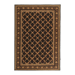 """Safavieh - Transitional Wilton 8'6""""x11'6"""" Rectangle Black Area Rug - The Wilton area rug Collection offers an affordable assortment of Transitional stylings. Wilton features a blend of natural Black color. Hand Hooked of Wool the Wilton Collection is an intriguing compliment to any decor."""