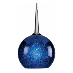Bruck - Bruck   Bobo Down Pendant Light - The glass of the BOBO is smooth on the outside but when illuminated will display speckled patterns.Uni-plug design allows fixture to be mounted on any Bruck lighting system through the use of an appropriate adapter (not included) or select from the ceiling canopy options.  5 foot cable length can be field-cut (halogen only) or specified when ordering.Mounting options: