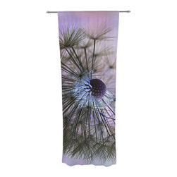 """Kess InHouse - Alison Coxon """"Dandelion Clock"""" Decorative Sheer Curtain - Let the light in with these sheer artistic curtains. Showcase your style with thousands of pieces of art to choose from. Spruce up your living room, bedroom, dining room, or even use as a room divider. These polyester sheer curtains are 30"""" x 84"""" and sold individually for mixing & matching of styles. Brighten your indoor decor with these transparent accent curtains."""