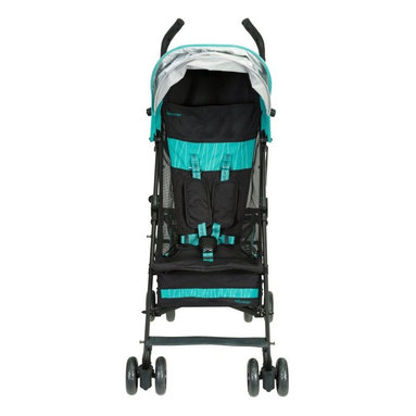 Baby Cargo - Baby Cargo Series 100 Lightweight Umbrella Stroller - Moonless Night/Teal Multic - Shop for Carriages and Strollers from Hayneedle.com! Enjoy a life on the go with the Baby Cargo Series 100 Lightweight Umbrella Stroller - Moonless Night/Teal. This ultra-lightweight forward-facing stroller gives you the freedom to go anywhere any time and fits easily through standard door sizes. Features include a compact easy-fold design shoulder strap and handle under-stroller cargo basket for all your necessities smartphone pocket with access window and a tailored back pocket. Never worry about the weather when you've got places to go and people to see. The retractable canopy will protect your child from harmful UV rays and the rain and wind guard will shield them from the elements. The stroller's seat features airy mesh sides and a five-point harness with plush harness straps for safety and comfort. The lightweight aluminum frame in metallic champagne is covered in soft-to-the-touch easy-clean black fabric with bright teal accents. This stroller is recommended for ages 6 months and up and up to 50 lbs. Additional Features Rain and wind guard smartphone pocket with access window and storage basket included Retractable canopy shields your child from UV rays Black with bright teal accents Open dimensions: 10.75W x 11D x 42H in. About Baby CargoBaby Cargo considers style a matter of substance. Being parents as well as designers and engineers Baby Cargo finds inspiration everywhere: fashion nature car designs interior decor and from moms carrying babies and all their cargo. At Baby Cargo every stitch dye button and rivet is hand-tested for baby-readiness and safety as well as aesthetics and quality. Baby Cargo strives to design products with fresh cohesive looks. From fasteners to accessories and frames each product is timeless and durable.