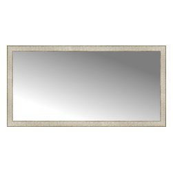 """Posters 2 Prints, LLC - 51"""" x 26"""" Libretto Antique Silver Custom Framed Mirror - 51"""" x 26"""" Custom Framed Mirror made by Posters 2 Prints. Standard glass with unrivaled selection of crafted mirror frames.  Protected with category II safety backing to keep glass fragments together should the mirror be accidentally broken.  Safe arrival guaranteed.  Made in the United States of America"""