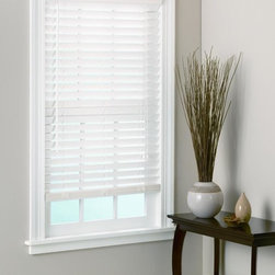None - White Bamboo Window Blinds 2-inch Slats - These bamboo window blinds with 2-inch slats provide energy saving insulation while reducing outside light and noise. The blinds install easily with the included hardware and instructions. The classic white finish will complement many decors.