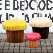 eclectic ottomans and cubes by Babatude Boutique