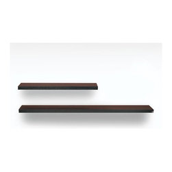 Euro Style - Wall Mount Shelf in 43 or 75 Inch Heights (43 - Finish: 43 in. WengeAvailable in two sizes and color choices, this wall mount shelf is sturdy and contemporary.  The simplicity of the line against the wall will bring attention to your pieces on display.  The shelf is made of light weight wood. * Light weight wooden honeycomb construction. 43 in. or 75 in. L x 10.25 in. W x 2 in. H