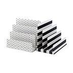 See Jane Work Paperboard Letter Sorter, Black/White -