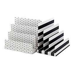 See Jane Work Paperboard Letter Sorter, Black/White - What is better than a mail sorter with style?