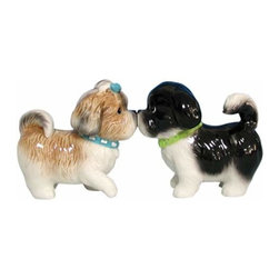WL - 3 Inch Two Tan and Black Shih Tzus Kissing Salt and Pepper Shakers - This gorgeous 3 Inch Two Tan and Black Shih Tzus Kissing Salt and Pepper Shakers has the finest details and highest quality you will find anywhere! 3 Inch Two Tan and Black Shih Tzus Kissing Salt and Pepper Shakers is truly remarkable.