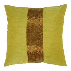 Rizzy Home - Green and Copper Decorative Accent Pillows (Set of 2) - T03059 - Set of 2 Pillows.