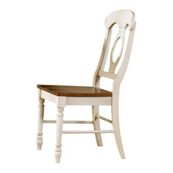 Liberty Furniture - Liberty Furniture Low Country Sand Napoleon Back Side Chair (Set of 2) - Welcome the refreshing designs of the Low Country collection into your home. With the simple elegance of gracious turned legs and flowing curves, this collection is sure to make a sophisticated statement. This collection features gathering height, formal, and casual dining groups. Select hardwoods and cherry veneers are offered in a Linen Sand with Suntan Bronze accents. What's included: Side Chair (can only be purchased in sets of 2).