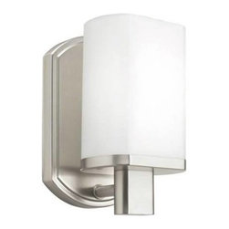"""Kichler - Kichler 10665NI Lege Fluorescent Wall Sconce 10665NI - Brushed Nickel finish 1 18-watt max. bulbs (included)Bulb Included: Yes Bulb Type: MLS18GU Collection: Lege Energy Efficient: Yes Finish: Brushed Nickel Height: 8.2"""" Number of Lights: 1 Socket 1 Base: GU24 Socket 1 Max Wattage: 18 Style: Soft Contemporary Casual Lifestyle Type: Wall Sconce Wattage: 18W Weight: 2.2 LBS Width: 4.6"""""""