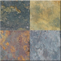 "Multi Classic Cleft Finish Slate Floor & Wall Tiles 16"" x 16"" - 16"" x 16"" Multi Classic Cleft Finish Slate Floor and Wall Tile is a beautiful tile to install on a wall, floor or kitchen countertop in your home. The tile is frost resistant, so it ft.s a great option for outdoor installations. It is marginally skid resistant and recommended for standard residential applications. The rustic-style tile is made of natural slate stone, and it features a textured, low-sheen surface."