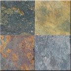 """Multi Classic Cleft Finish Slate Floor & Wall Tiles 16"""" x 16"""" - 16"""" x 16"""" Multi Classic Cleft Finish Slate Floor and Wall Tile is a beautiful tile to install on a wall, floor or kitchen countertop in your home. The tile is frost resistant, so it ft.s a great option for outdoor installations. It is marginally skid resistant and recommended for standard residential applications. The rustic-style tile is made of natural slate stone, and it features a textured, low-sheen surface."""