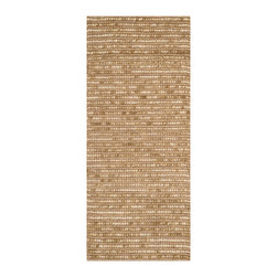 """Safavieh - Julian Textured Rug, Beige / Multi 2'6"""" X 12' - Construction Method: Hand Woven. Country of Origin: India. Care Instructions: Vacuum Regularly To Prevent Dust And Crumbs From Settling Into The Roots Of The Fibers. Avoid Direct And Continuous Exposure To Sunlight. Use Rug Protectors Under The Legs Of Heavy Furniture To Avoid Flattening Piles. Do Not Pull Loose Ends; Clip Them With Scissors To Remove. Turn Carpet Occasionally To Equalize Wear. Remove Spills Immediately. Safavieh's Bohemian Collection is all-organic, with exquisitely fine jute pile woven onto a cotton warp and weft, and an earthy natural color palette. The high quality jute chosen for our Bohemian rugs is biodegradable and recyclable, with an innate sheen because it is harvested only from Cannabis Sativa (commonly known as the """"true hemp"""" plant), a quickly renewable resource that excels in length, durability, anti-mildew and antimicrobial properties. Safavieh brings fashion excitement to the eco-friendly rug category with the Bohemian collection's unique patterns, ribbed textures and remarkable hand. The rugs are washed to soften the yarn, and then brushed to an even more lustrous sheen. Hand Knotted in India."""