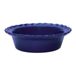 Chantal - Chantal 5 in. Indigo Blue Classic Individual Pie Dish - Set of 4 - 93-PD13 S/4 B - Shop for Pie Dishes from Hayneedle.com! The Chantal 5 in. Indigo Blue Classic Individual Pie Dish - Set of 4 allows you to create a sensational meal with a personal touch. Prepare individual sweet tarts for a morning treat with these 1.5-cup capacity ceramic dishes specially designed to conduct heat so each piece cooks evenly. A nonporous indigo-blue glaze coats each piece protecting against scratches so you can eat or serve directly from the dishes without worrying about scratching or affecting the flavor. Each piece is dishwasher microwave oven and freezer safe. About Chantal Cookware CorporationAs the most renowned name in enamel-on-steel cookware today US-based Chantal Cookware Corporation was the first to bring dramatic color tempered glass lids stay-cool handles and environmentally-friendly cookware for cooking serving and storing to the world's market. Founded in 1971 by engineer Heida Thurlow the first woman in the US to launch and run a cookware company Chantal has received 26 design and utility patents from the US and Germany.