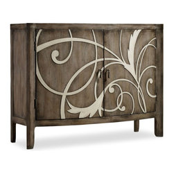 """Hooker Furniture - Hooker Furniture Melange Terina Console - Come closer to Melange, and you will discover something unexpected, an eclectic blending of colors, textures and materials in a vibrant collection of one-of-a-kind artistic pieces. Poplar and Hardwood Solids with Primavera Veneers. Dimensions: 47.5""""W x 17""""D x 36.25""""H."""