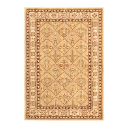 "Torabi Rugs - Machine made Lotus Garden Espresso Light Brown Polypropylene Rug 4'0"" x 5'7"" - Stylish designed rugs that are designed to provide high levels of comfort and practicality. Reminiscent of the famous American Sarouk designs of the William Morris rugs, the Lotus Garden series is a unique collection of power-loomed heat set two ply yarn rugs that evoke a sense of the past in modern-day colors and interpretations."