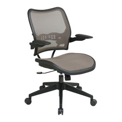 Office Star - Office Star 13 Latte/Black Air Grid Seat and Back Chair Cantilever Arms - Office Star - Office Chairs - 1388N1P3 - The SPACE seating collection combines contemporary design with ergonomic engineering to enhance the decor and comfort of any office setting. Built to Office Star Products exacting contract furniture standards this highly innovative eye-catching collection is backed by Office Stars industry leading limited lifetime warranty. And within the vast confines of SPACE you'll find more than 100 models to choose from.