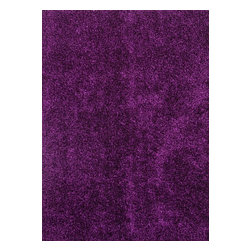 "Jaipur - Shag Flux 5'x7'6"" Rectangle Tulip Purple-Tulip Purple Area Rug - The Flux area rug Collection offers an affordable assortment of Shag stylings. Flux features a blend of natural Tulip Purple-Tulip Purple color. Machine Made of Polyester the Flux Collection is an intriguing compliment to any decor."
