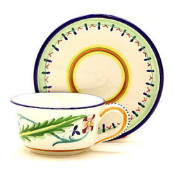 Artistica - Hand Made in Italy - Corona: Tea/Coffee Cup and Saucer - Corona Collection.