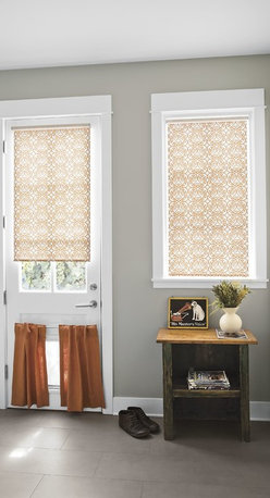 Smith and Noble Classic Roller Shades - Whether you're seeking the drama and fashion appeal of fine fabric, or the rich texture of woven wood blinds, you'll find a budget-wise, easy-care solution in smith+noble Roller Shades. Starting $87+