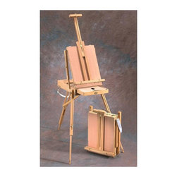 Alvin - Alvin Heritage Deluxe French Easel Multicolor - HWE235 - Shop for Art Easels from Hayneedle.com! Designed for artists on-the-go this portable easel can be carried to any location and set up with ease. The Alvin Heritage Deluxe French Easel is crafted from oiled beechwood and features telescoping legs with nonskid rubber feet for quick set-up. You can work in both standing and sitting positions. The divided sketch box drawer is great for storing your utensils and features an aluminum tray which makes clean up easy. This easel folds down to sketch box size and comes with an adjustable shoulder strap for easy carrying. The included palette completes this deluxe wooden easel preparing you for an inspiring outing in town or out in the park. A Word from the ManufacturerAlvin and Company has been a leading source of drafting and drawing supplies since 1950 and it continues to meet the evolving needs of its customers with value and innovation. The ever-expanding range of Alvin products includes papercraft fine arts hobby and craft drafting supplies drafting tables and more. Alvin serves today's needs - and tomorrow's- for graphic arts drafting and fine arts products. Dedicated to the pursuit of excellence in all aspects of its business Alvin relies on its employees to create and develop opportunities that set it apart from the competition.