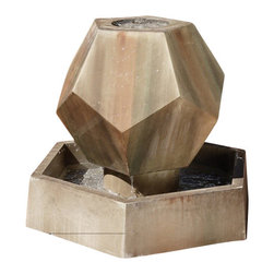 Twelve-Side Garden Fountain, Desert Rose - The Twelve-Side Garden Fountain gets its name from its shape. With its unusual look, it will be a conversation piece at your home.
