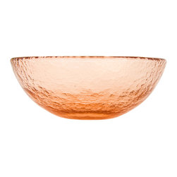 Fire & Light - Recycled Glass Salad Bowl, Copper - This iridescent dinnerware is so beautiful, you would never guess that this salad bowl is actually made from recycled glass! The unique play of light that filters through the color of these wonderful bowl will enchant you and offer a glistening backdrop for your favorite meal as well as dips, nuts, veggies or cereal. Made with over 91% recycled glass.