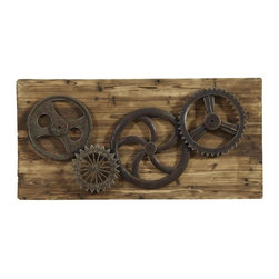 Bassett Mirror - Easy Living Industrial Gear Era Wall Art - Easy Living Industrial Gear Era Wall Art by Bassett Mirror