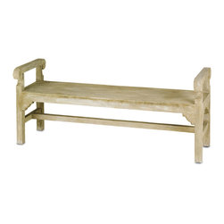 Currey & Co - Currey & Co 2022 Chippendale Portland Bench - Consider the Currey & Co 2022 Chippendale Portland Bench to use in the interior or exterior of your home. This attractive bench is built out of concrete and wrought iron. It is 60 in. wide by 26 in. tall, so it is perfect for when you are entertaining guests for a party in your yard. It does not have a back to it, so it serves as a beautiful minimalist piece.