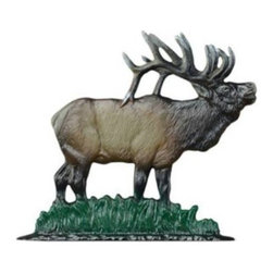 "Whitehall Products LLC - 30"" Elk Weathervane - Rooftop Color - Features:"