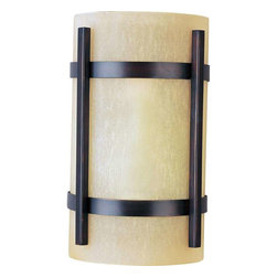 Maxim Lighting - Maxim Lighting 85218WSOI Luna EE Modern Outdoor Wall Light in Oil Rubbed Bronze - Maxim Lighting 85218WSOI Luna EE Modern Outdoor Wall Light In Oil Rubbed Bronze