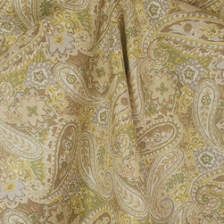Kauf - Breeze Green Tea Paisley Drapery Fabric By The Yard - Breeze in the colorway Green Tea has a fiber content of 100% Cotton and a design repeat of V-27  H-13.5.  Kaufmann Fabric Breeze is a brown , grey , yellow paisley pattern.  You can use this pattern in all sorts of a projects such as Curtain Fabric, Drapery Fabric, Pillows, Bedding, Upholstery Fabric and craft projects.