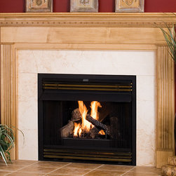 Newburg Wood Fireplace Mantel - The understated elegance of the Newburg Wood Fireplace Mantel would be ideal for a study or living room.