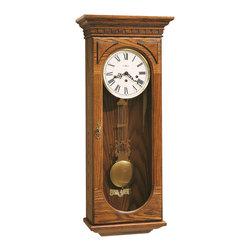 Howard Miller - Howard Miller Classic Key Wound Chiming Oak Wall Clock | WESTMONT - 613110 Westmont