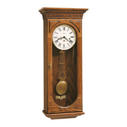 Howard Miller - Howard Miller Classic Key Wound Chiming Oak Wall Clock | WESTMONT - 613110 Westmont