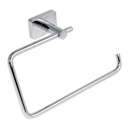 Gedy - Square Stainless Steel Towel Ring - Wall mounted stainless steel towel ring with polished chrome finish.