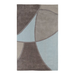 Surya - Cosmopolitan Gray/Blue Rug - Great contemporary designs with a bright color palette and a price in reach of every buyer. Hand Tufted from acrylic fibers, these rugs will not shed. This is a beautiful addition to any d cor. Features: -Technique: Tufted.-Material: 100% Poly-Acrylic.-With a dry cotton towel or white paper towel, blot out stain as much as possible..-Scrape off any food or debris with a dull instrument..-Mix a very small amount of dish soap with a cup of cold water..-Bloat area with dry towel..-Fantastic and 409 can be used to remove grease and stubborn stains..-Construction: Handmade.-Color (Pantone TPX): Brindle (17-1310), Blue Haze (15-4707), Cobble Stone (16-0806), Oyster Gray (14-1107), Mushroom (18-1015), Gray Sage (15-0309), Pale Blue (13-4405).-Collection: Cosmopolitan.-Distressed: No.-Collection: Cosmopolitan.Dimensions: -Pile Height: 0.63''.-Overall Dimensions: 36-132'' Height x 24-96'' Width x 0.63'' Depth.-Overall Product Weight: 5-66lbs.