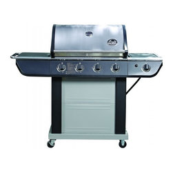 Bradley - Stainless Steel BBQ Grill - -Big enough to cook for 4-6 people with 696 square inches of grill space (493 square inches primary, and 203 square inches secondary), and a total of 61,000 BTU.