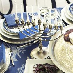 Antique Pewter Mini Menorah - Each night of Hanukkah can shine with this beautifully classic menorah.